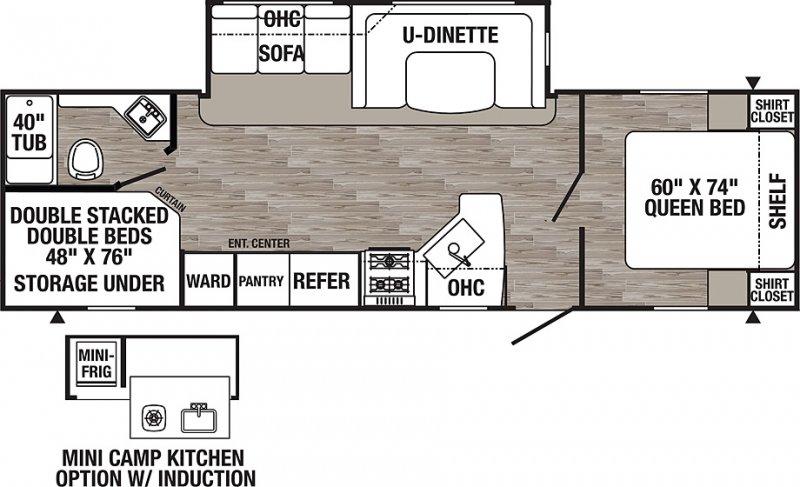 2020 PALOMINO PUMA XLE XLE27RBQC Floorplan