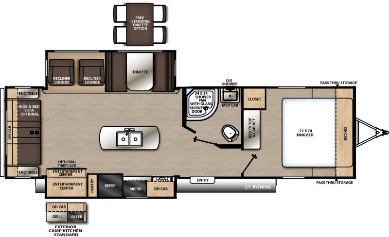 2020 COACHMEN CATALINA LEGACY EDITION CAT293RLDS Floorplan