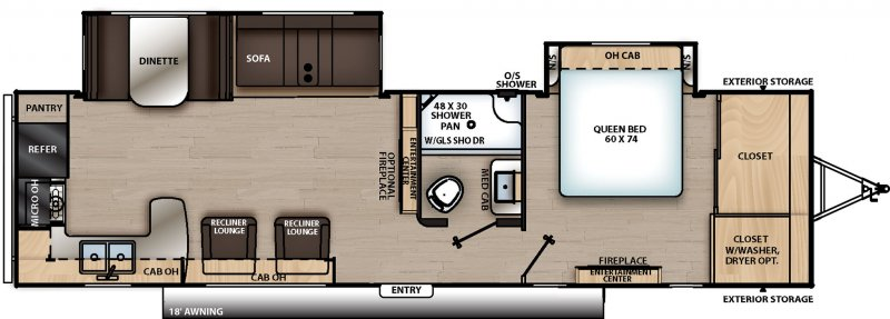 2021 COACHMEN CATALINA LEGACY EDITION CAT303RKDS Floorplan