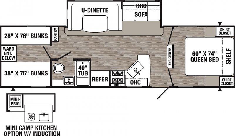 2021 PALOMINO PUMA XLE XLE30DBSC Floorplan