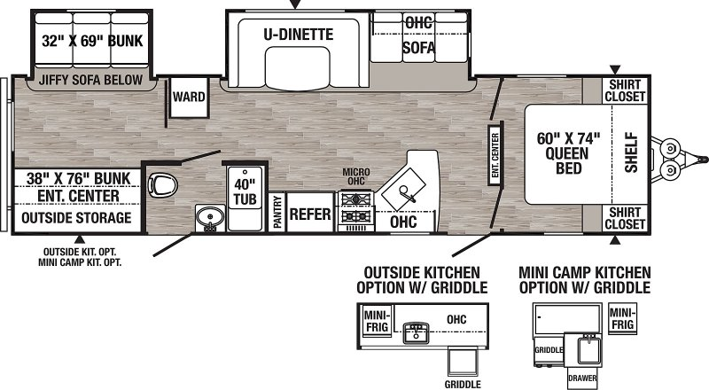 2021 PALOMINO PUMA XLE XLE31BHSC Floorplan