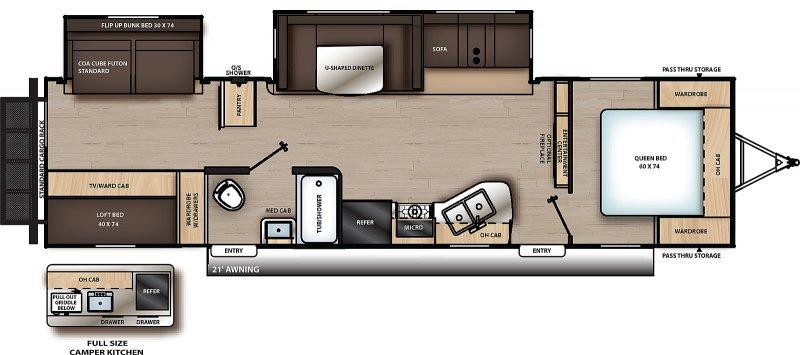 2022 COACHMEN CATALINA LEGEND CAT323BHDS Floorplan