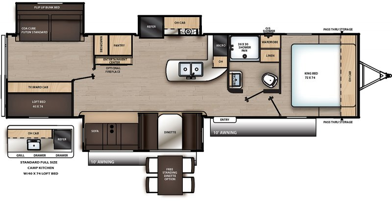 2021 COACHMEN CATALINA LEGACY EDITION CAT333BHTS Floorplan