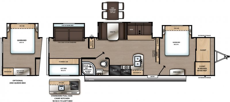 2021 COACHMEN CATALINA LEGACY EDITION CAT343BHTS Floorplan
