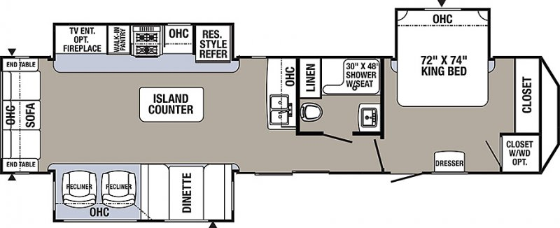 2021 FOREST RIVER PUMA PA38RLQ Floorplan