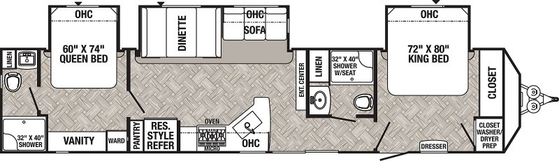 2021 FOREST RIVER PUMA PA39DBT Floorplan