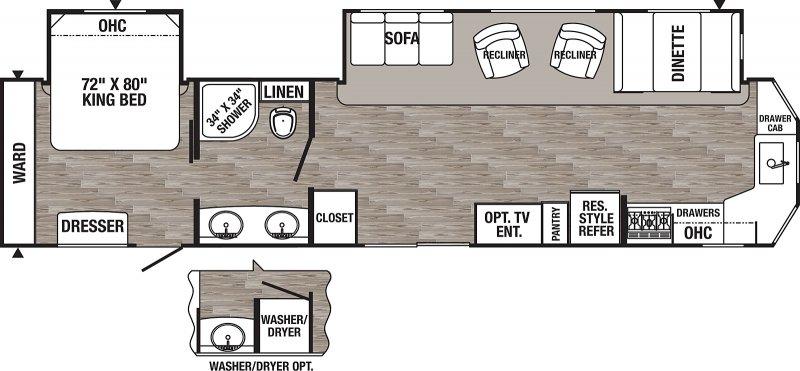 2022 FOREST RIVER PUMA 39PFK Floorplan