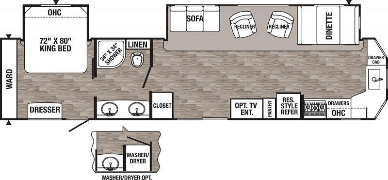 2020 FOREST RIVER PUMA PA39PFK Floorplan