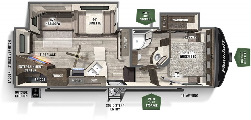 2021 FOREST RIVER FLAGSTAFF FS526RWS Floorplan