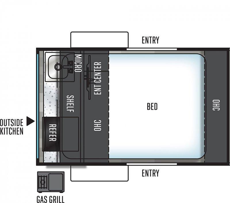 2021 FLAGSTAFF E-PRO by FLAGSTAFF E12RK Floorplan