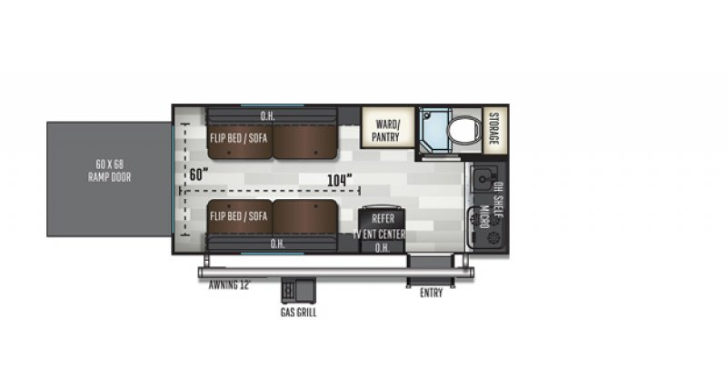 2019 FOREST RIVER INC E-PRO E16TH Floorplan