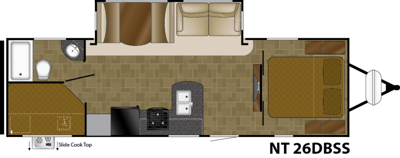 2017 HEARTLAND NORTH TRAIL 26DBSS Floorplan