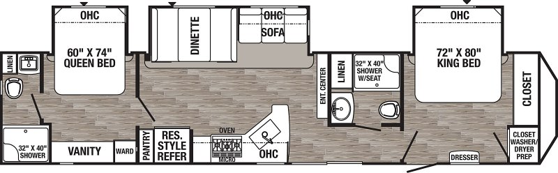 2020 FOREST RIVER PUMA PA39DBT Floorplan
