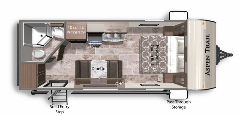 2020 DUTCHMEN Aspen Trail 1900RB Floorplan