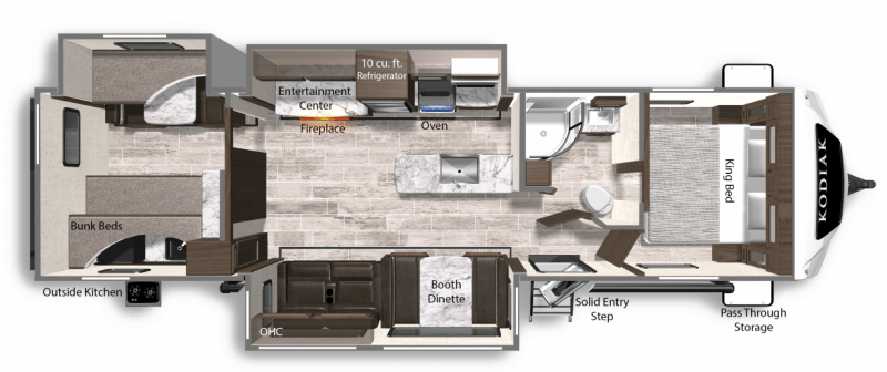 2020 DUTCHMEN Kodiak Ultimate 3321BHSL Floorplan