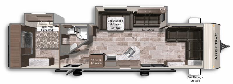 2019 DUTCHMEN Aspen Trail 3680FLDS Floorplan