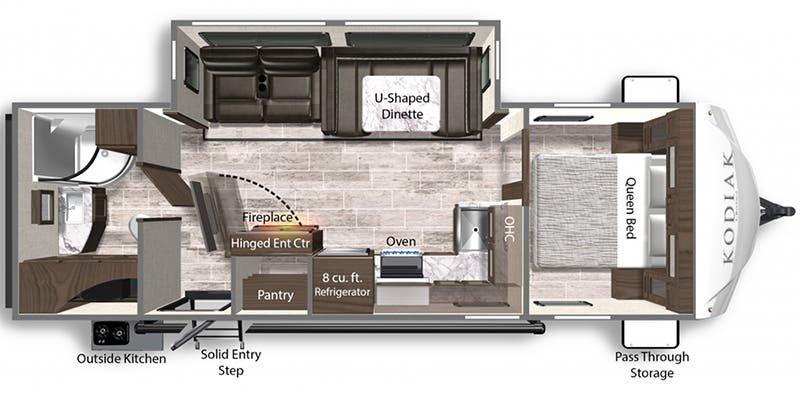 2021 DUTCHMEN Kodiak Ultra Lite 261RBSL Floorplan