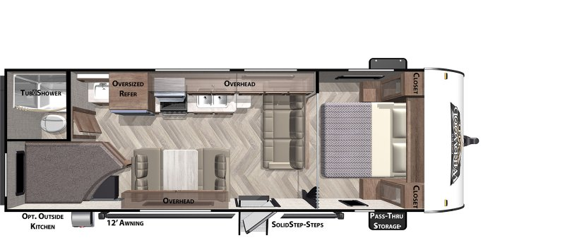 2020 FOREST RIVER Wildwood X-Lite 261BHXL Floorplan