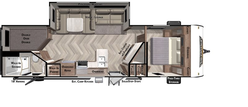 2020 FOREST RIVER Wildwood 26DBUD Floorplan