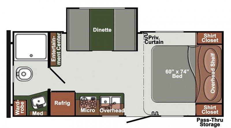 2021 GULFSTREAM STREAMLITE 21QBD Floorplan
