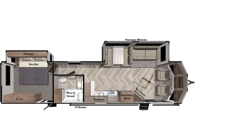 2020 FOREST RIVER Wildwood DLX 353FLFB Floorplan