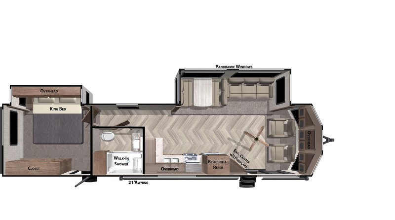 2021 FOREST RIVER Wildwood DLX 353FLFB Floorplan