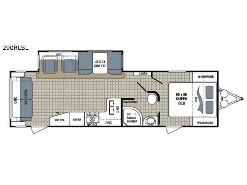 2017 DUTCHMEN Kodiak Ultimate 290RLSL Floorplan