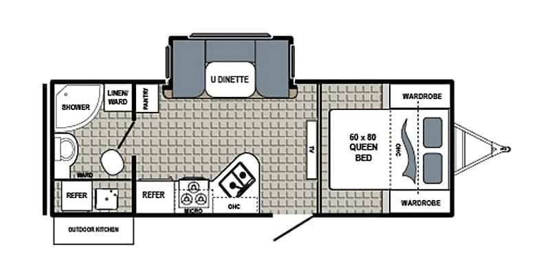 2017 DUTCHMEN Kodiak Ultra Lite 233RBSL Floorplan