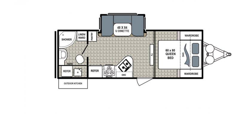 2017 DUTCHMEN Kodiak Ultimate 230RBSL Floorplan