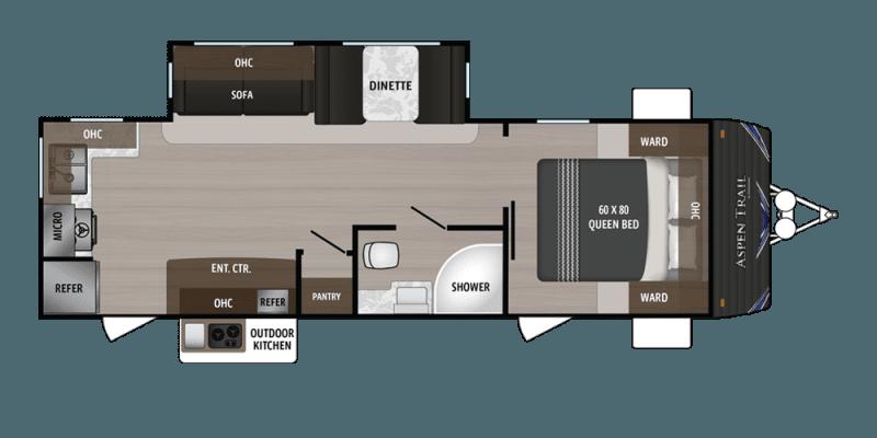 2019 DUTCHMEN Aspen Trail 2610RKS Floorplan