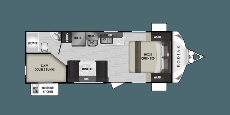 2019 DUTCHMEN Kodiak Ultra Lite 227BH Floorplan