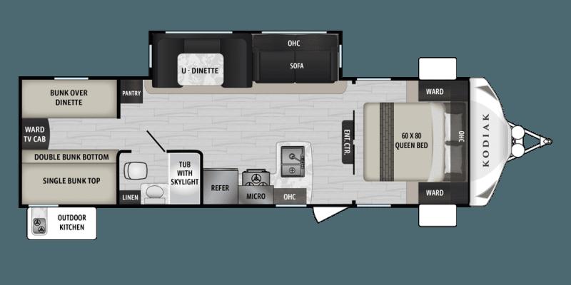 2019 DUTCHMEN Kodiak Ultra Lite 283BHSL Floorplan
