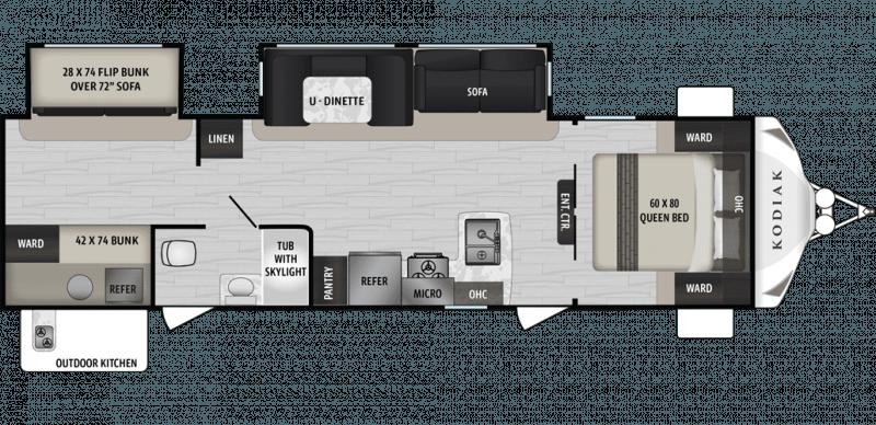 2019 DUTCHMEN Kodiak Ultra Lite 299BHSL Floorplan