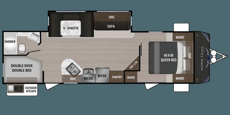 2019 DUTCHMEN Aspen Trail 2850BHS Floorplan