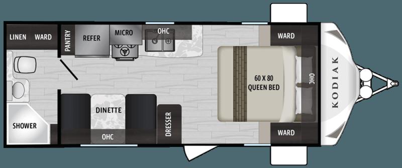 2019 DUTCHMEN Kodiak Ultra Lite 201QB Floorplan