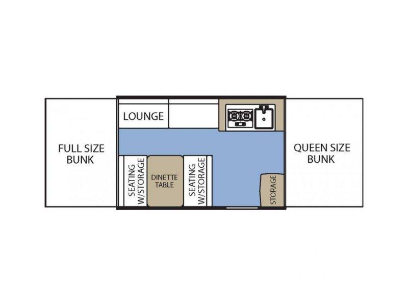 2018 COACHMEN Clipper 107LS Floorplan