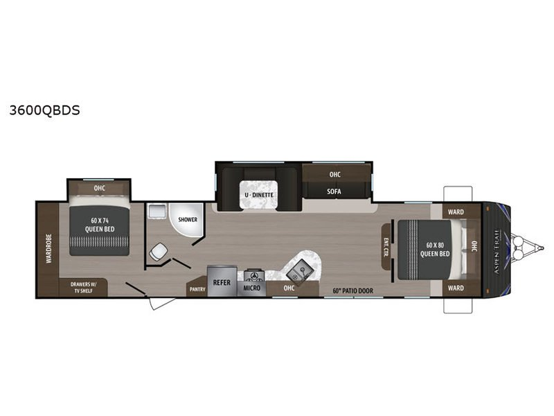 2020 DUTCHMEN Aspen Trail 3600QBDS Floorplan