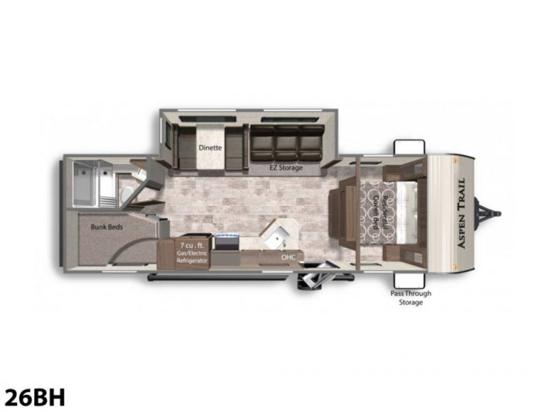 2020 ASPEN TRAIL Aspen Trail LE 26BH Floorplan