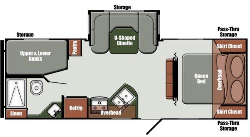 2020 GULFSTREAM Cabin 25BHS Floorplan