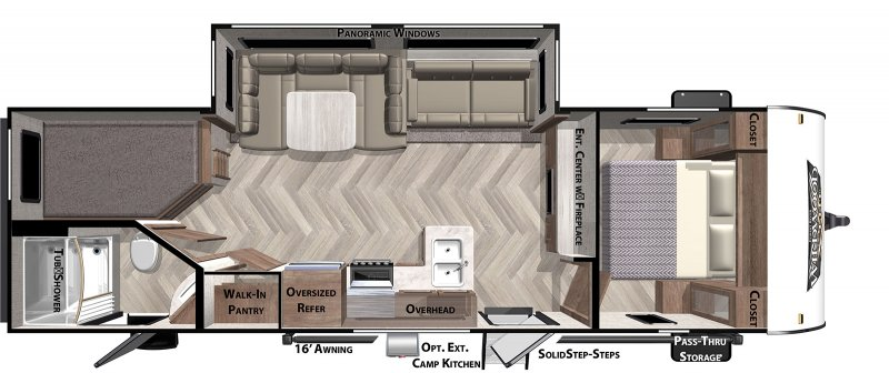 2020 FOREST RIVER Wildwood X-Lite 263BHXL Floorplan