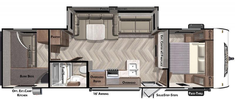 2020 FOREST RIVER Wildwood X-Lite 273QBXL Floorplan