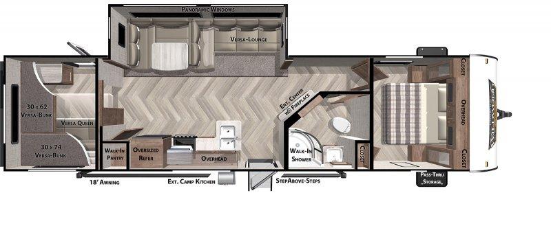 2021 FOREST RIVER Wildwood 29VBUD Floorplan