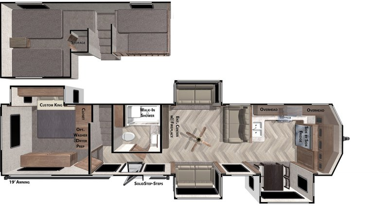 2020 FOREST RIVER Wildwood Grand Lodge 42FK Floorplan