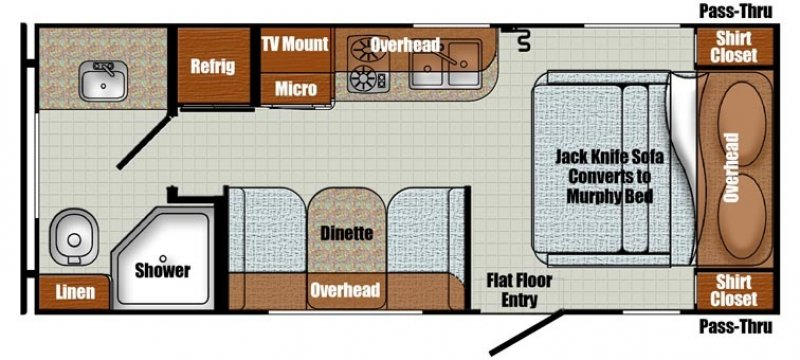 2020 GULFSTREAM Vintage Cruiser 19MBS Floorplan