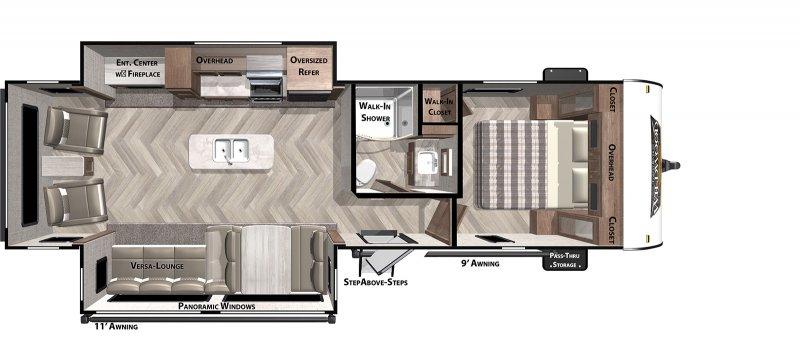 2021 WILDWOOD Wildwood 27RE Floorplan