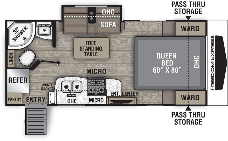 2021 COACHMEN FREEDOM EXPRESS 192 RBS Floorplan
