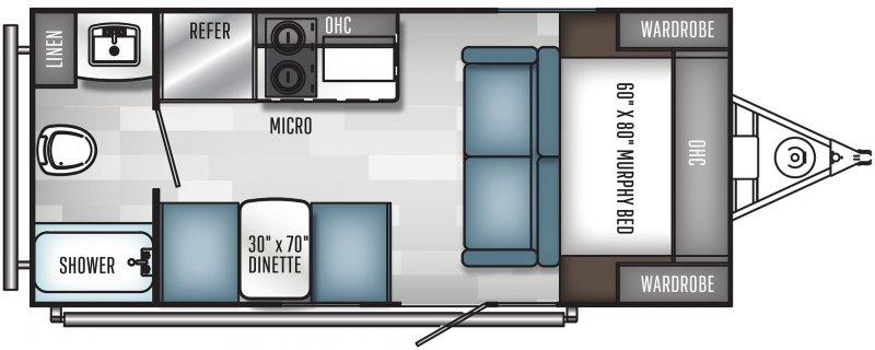2021 PALOMINO REAL-LITE 184 Floorplan