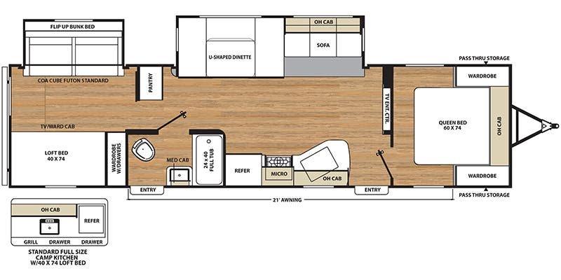 2017 COACHMEN Catalina Legacy 323BHDSCKLE Floorplan