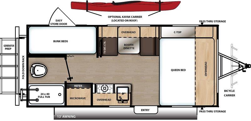 2021 COACHMEN Catalina Expedition 192BH Floorplan