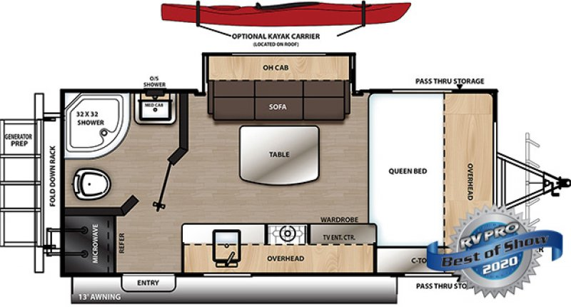 2020 COACHMEN Catalina Expedition 192 FQS Floorplan